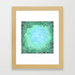 Abstract Sea Glass Framed Art Print