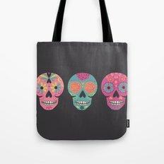 Three Amigas Sugar Skulls Tote Bag