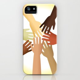 Diverse Hands iPhone Case
