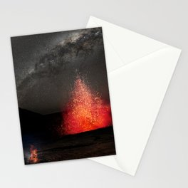 Kilauea Volcano Eruption Under The Stars. Stationery Cards