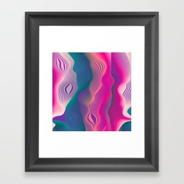 Colors bubbles Framed Art Print
