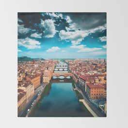 ponte vecchio in florence Throw Blanket