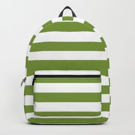 Green and White Stripes Backpack