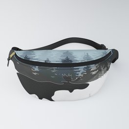 WINTER WALK OF A MOOSE Fanny Pack
