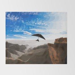 Hang gliding Throw Blanket