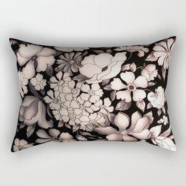 Pink Flowers Rectangular Pillow