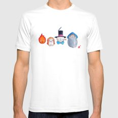 Make the Unlikeliest of Friends, Wherever You Go 3 White Mens Fitted Tee MEDIUM