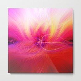 Sunset Swirling Light Fibers Metal Print