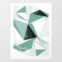 trip Art Prints featuring trip by .eg.