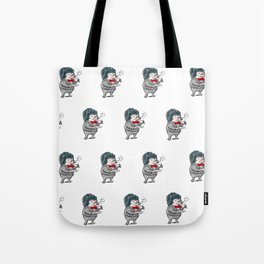 Fancy Hedgehog Tea Time Tote Bag