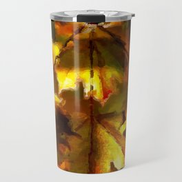 Sun kissed Sycamore leaves Travel Mug