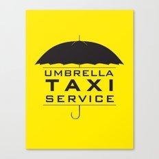 umbrella taxi service Canvas Print