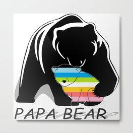 Papa Bear Queer Metal Print