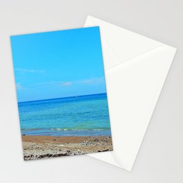 Perce Beach panoramic Stationery Cards