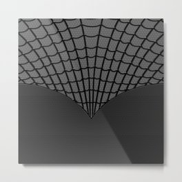 Spider Web Dark Hero Metal Print
