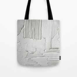Relief [3]: an abstract, textured piece in white by Alyssa Hamilton Art  Tote Bag