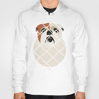 bulldog Hoodies featuring Bulldog by SaveTheDogs.es