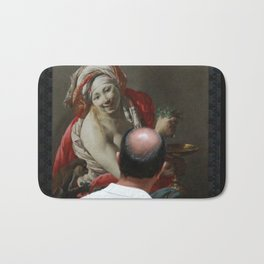 Painting Watching Person Bath Mat