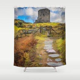 Dolbadarn Castle Llanberis Wales Shower Curtain