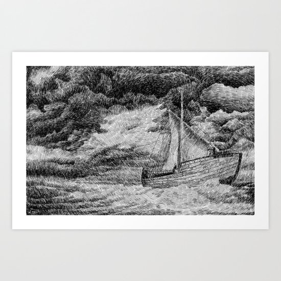 Fingerprint - Sailing Art Print