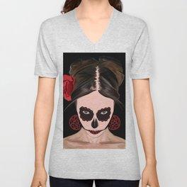 The Need To Forget - Dia De Los Muertos Sugar Skull Unisex V-Neck