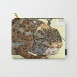 Chameleon Hanging On A Wire Fence Carry-All Pouch