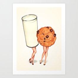 Milk & Cookie Pin-Ups Art Print