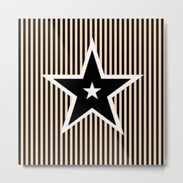 The Greatest Star! Black and Cream Metal Print