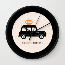 London royal queen cab Wall Clock