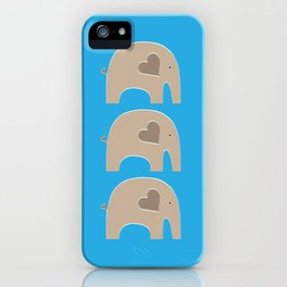 Blue Safari Elephant iPhone Case