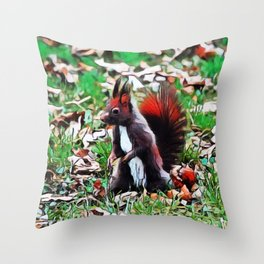 Aberts Squirrel   Painting  Throw Pillow