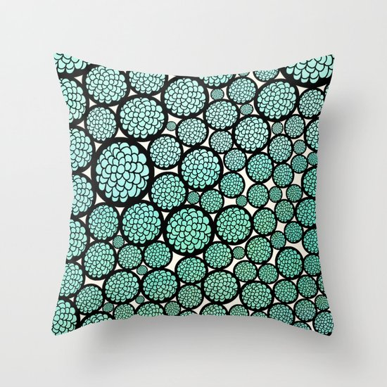 Blooming Trees Throw Pillow by Pom Graphic Design Society6