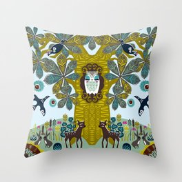 The Horse Chestnut {Day} Throw Pillow