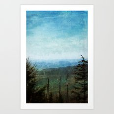 View from Clingman's Dome Tennessee Smoky Mountains Art Print