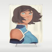 avatar Shower Curtains featuring The Avatar by Monica Selva