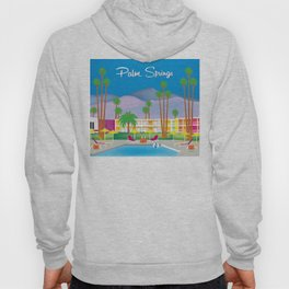 Palm Springs, California - Skyline Illustration by Loose Petals Hoody