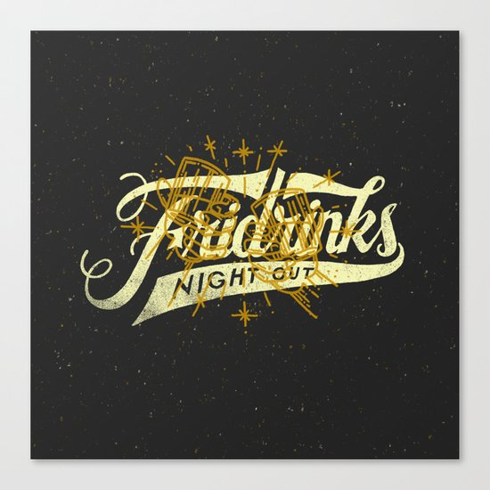 Fridrinks Night Out Canvas Print
