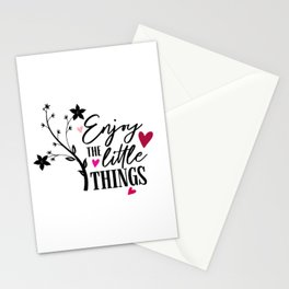 Enjoy The Little Things Quote Stationery Cards