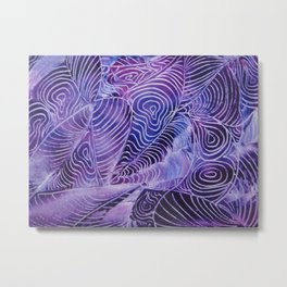 Purple Contours Metal Print