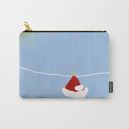 santa hat on clothesline Carry-All Pouch