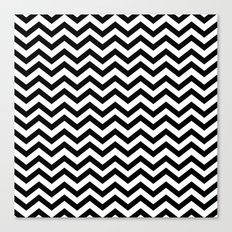 Keep Calm And Dream On (Zig Zag Chevron Black Lodge Floor, Twin Peaks) Canvas Print