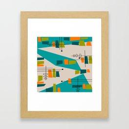 Mid-Century Modern Abstract Framed Art Print