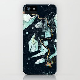 Climbing the Crevasse iPhone Case