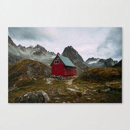 The Mint Hut in Hatcher Pass, Alaska Canvas Print
