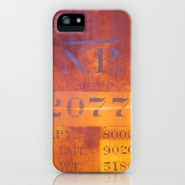 Freight-car detail iPhone Case
