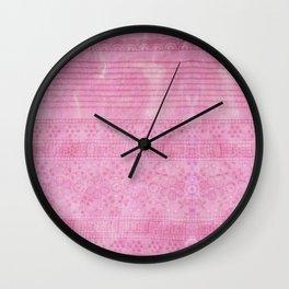 Romantic pink painting Wall Clock