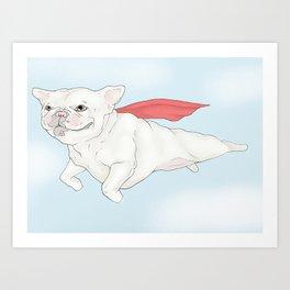 """""""Super Frenchie"""" Art Print"""