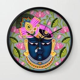 Shreenathji Pichwai art Wall Clock