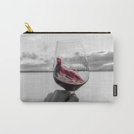 Swirling Red Carry-All Pouch