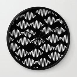 Sound wave pattern Wall Clock